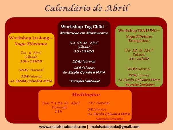 calendario Abril 2013